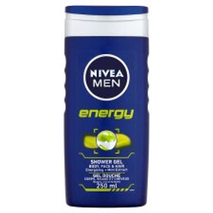 Nivea Men Shower Gel 250ml 2 for £1.80 (Or £1.90 Each)