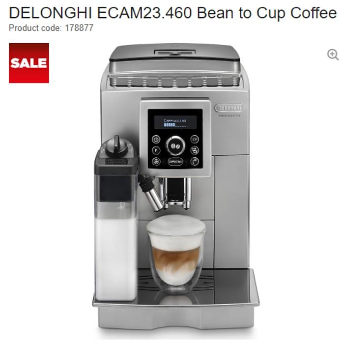 SAVE £400! DELONGHI Bean to Cup Coffee Machine HALF PRICE!