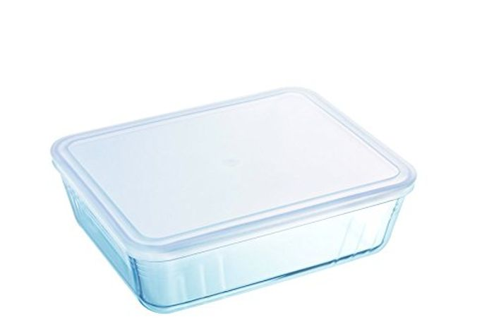 Pyrex Rectangular Dish with Plastic Lid, 4.0L (Add on Item)