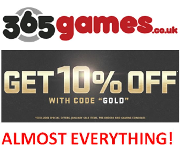10% OFF Almost Everything - Gaming, Toys, Film & TV etc