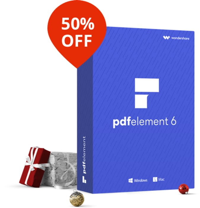 Save 50% on PDFelement 6 – A smart and powerful PDF editor