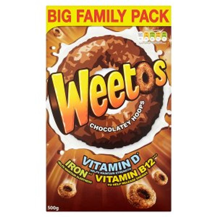 1/2 Weetos in Iceland 500g Boxes