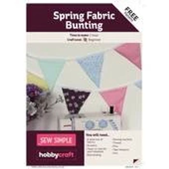 FREE PATTERN Sew Spring Fabric Bunting