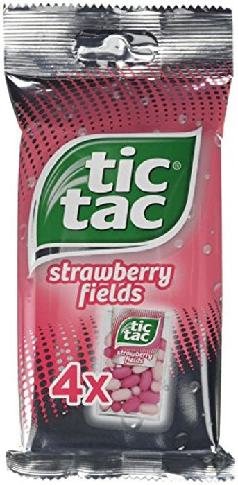 Tic Tac Strawberry Fields 10 X Packs of 4 (40 Packs of Tic Tacs)