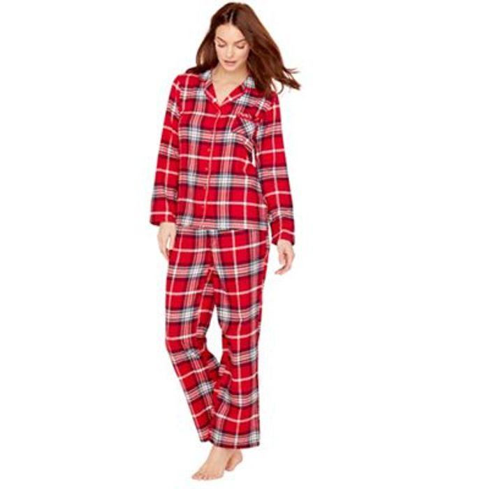 Lounge and Sleep Tall Red Check Print Pyjamas