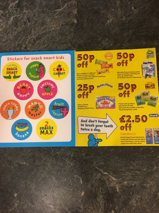 Vouchers and Free Stickers