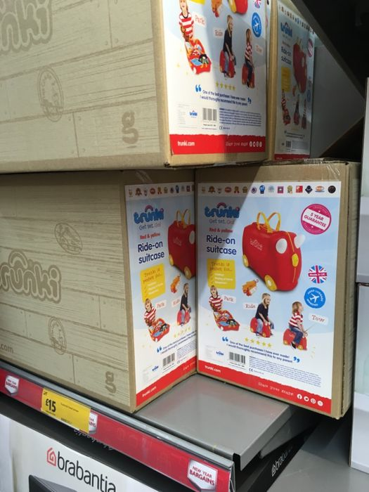 Trunki Ride on Suitcase Red&yellow