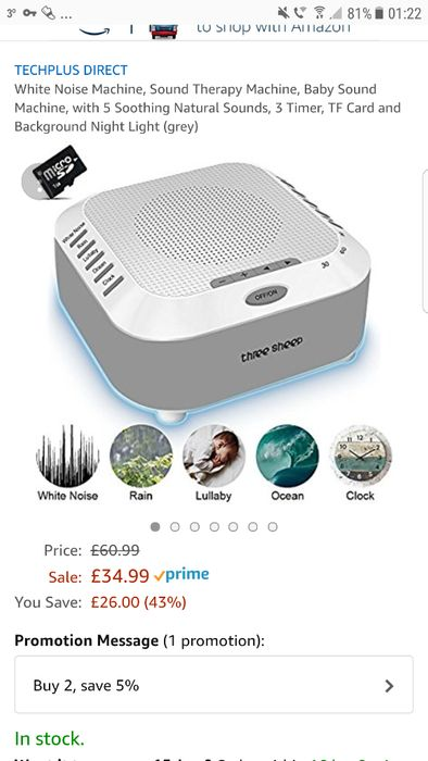 White Noise Machine, Sound Therapy Machine, with Soothing Sounds