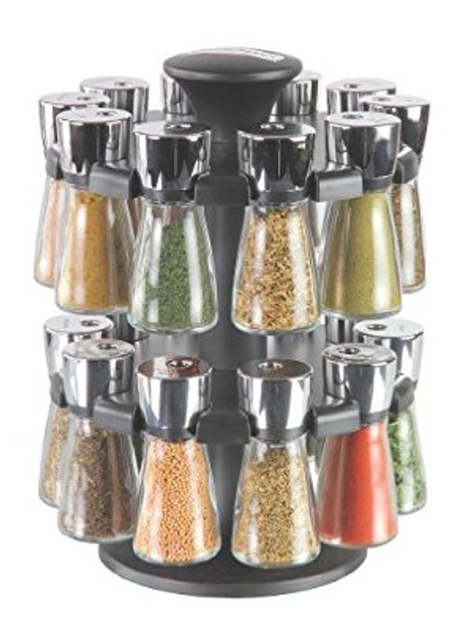 Cole & Mason Hudson 20-Jar Filled Herb and Spice Carousel/Rack