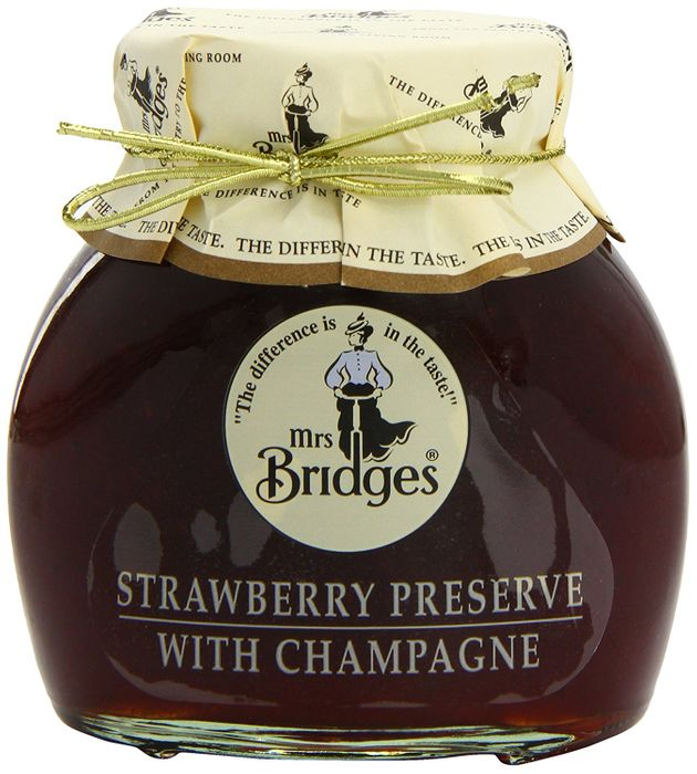 Mrs Bridges 3 X Strawberry Preserve with Champagne (Add-On)