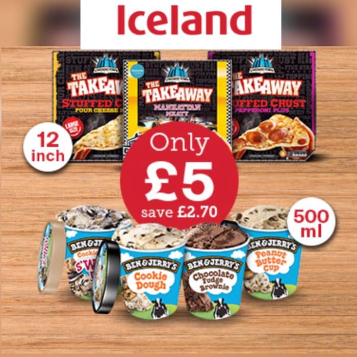 Pick 1 Pizza Pick 1 Ice Cream Only £5.00