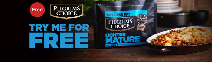 FREE Pilgrim Cheese with your online order at Sainsbury's