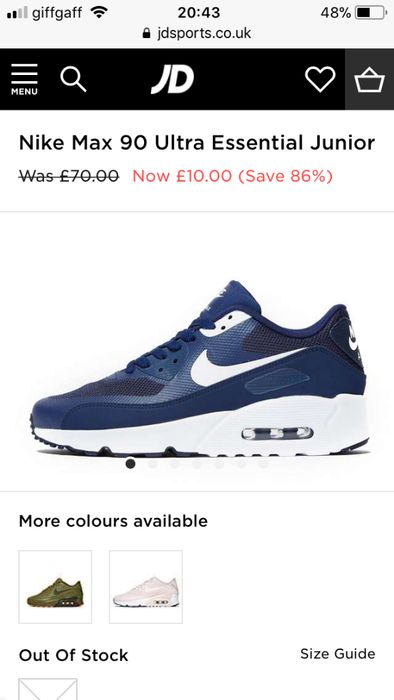 Amazing Deal - Nike Trainers For Kids (Size 3 - 5)