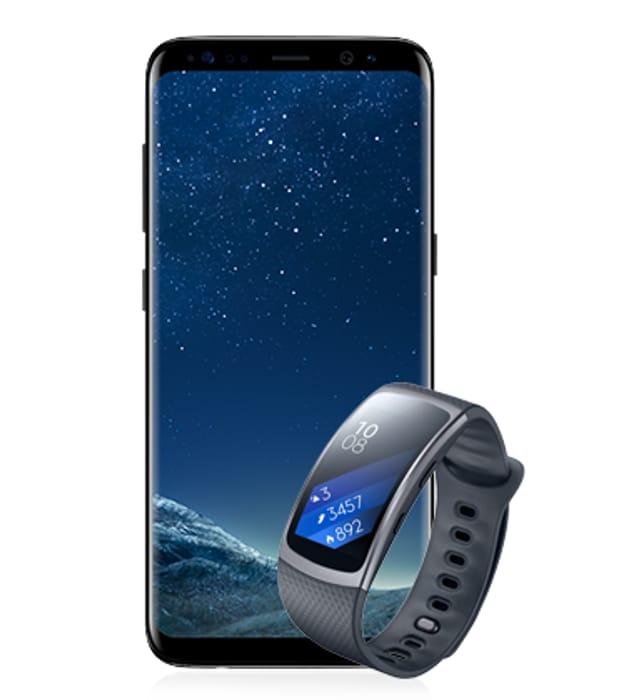 Samsung Galaxy S8 64GB Midnight Black + FREE Gear Fit2 £26 pm