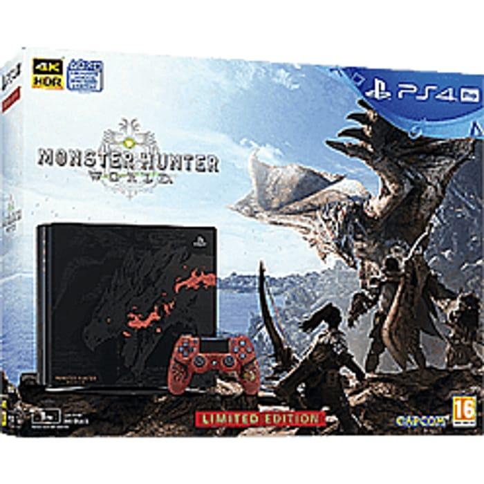 Monster Hunter: World Limited Edition Rathalos PS4 Pro Bundle