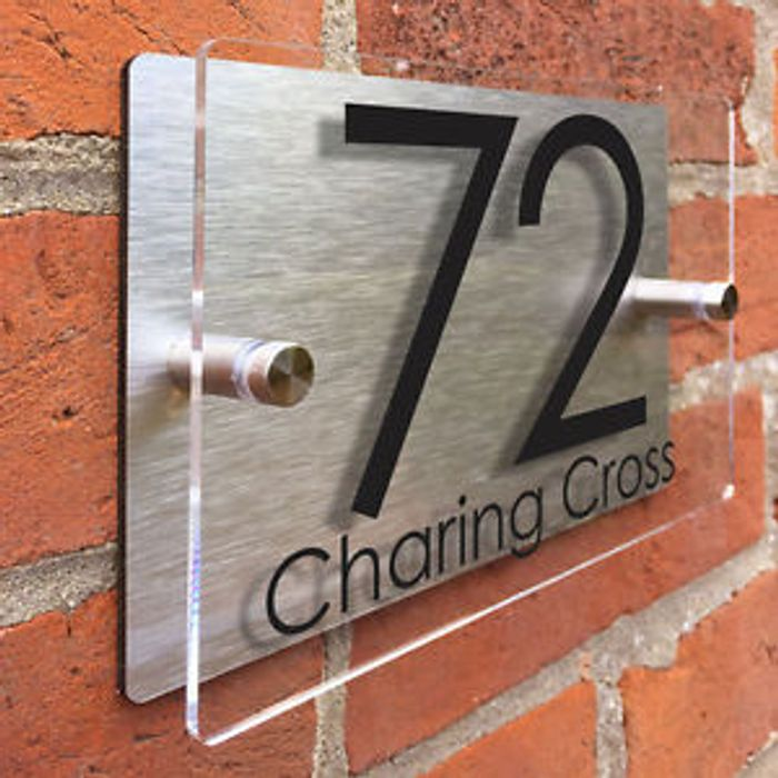 Name and Number Door Plaque Free Delivery