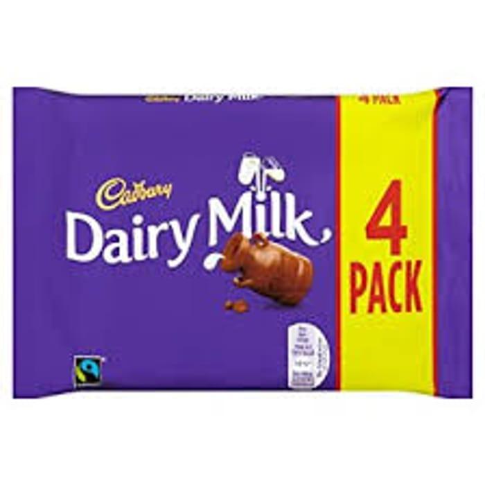 Cadbury Dairy Milk Chocolate Bar, 4 X 36g Amazon Pantry