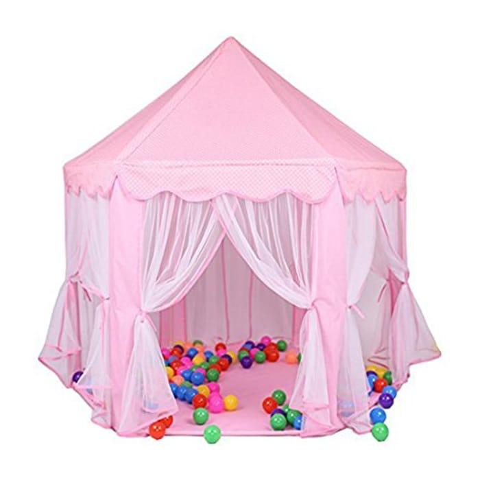 Beautylife66 Kids Baby Play Tent Children Castle Pink