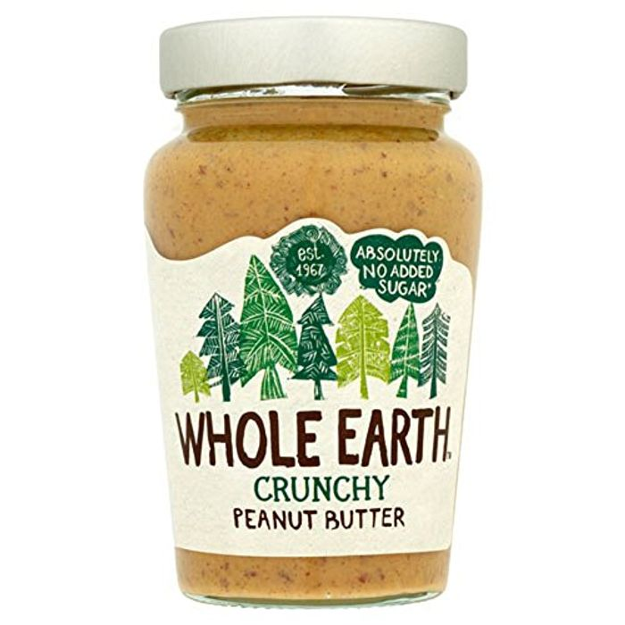 Whole Earth Original Peanut Butter Crunchy 340 G (Pack of 6) -Add on Item