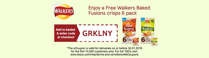 Enjoy a Free Walkers Baked Fusions Crisps 6 Pack