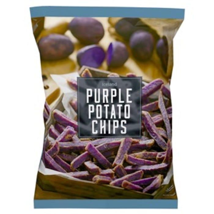 Iceland Purple Potato Chips 600g