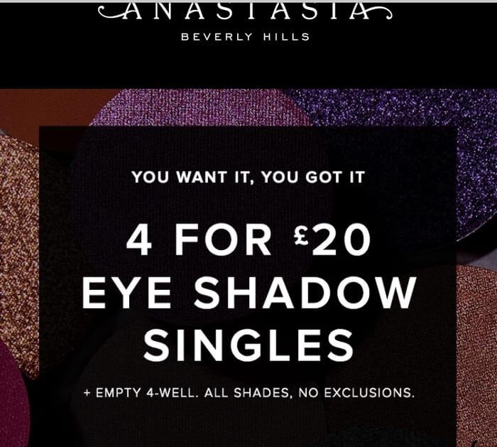 Anastasia Beverly Hills Makeup Lovers!!! Eyeshadow Singles 4 for £20!