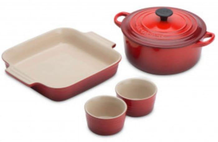 Le Creuset Cookware Starter Set 86.36 Delivered Using Code at Steamer Trading.