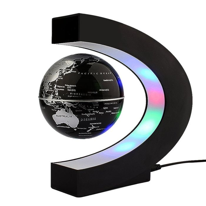 Levitating Globe, C Shape Floating Globe with LED Lights