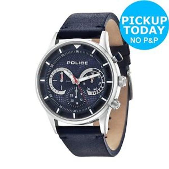 Police Men's Blue Driver Watch at Argos/ebay