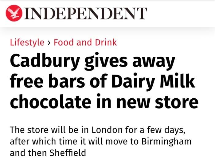 Free Cadbury's Chocolate in Exchange for Knick Knacks. Read Description