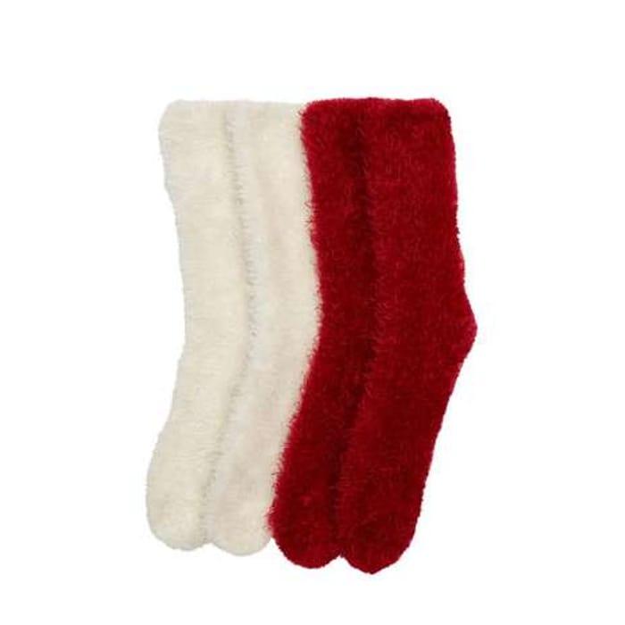 2 Pack Fluffy Socks Only £2.50 at Dunelm