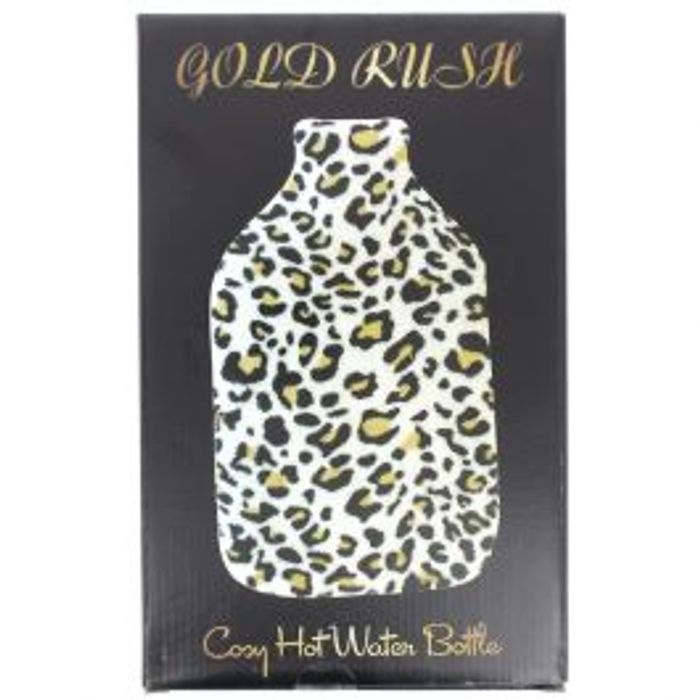 Large Cosy Hot Water Bottle Leopard Print 2 Litres