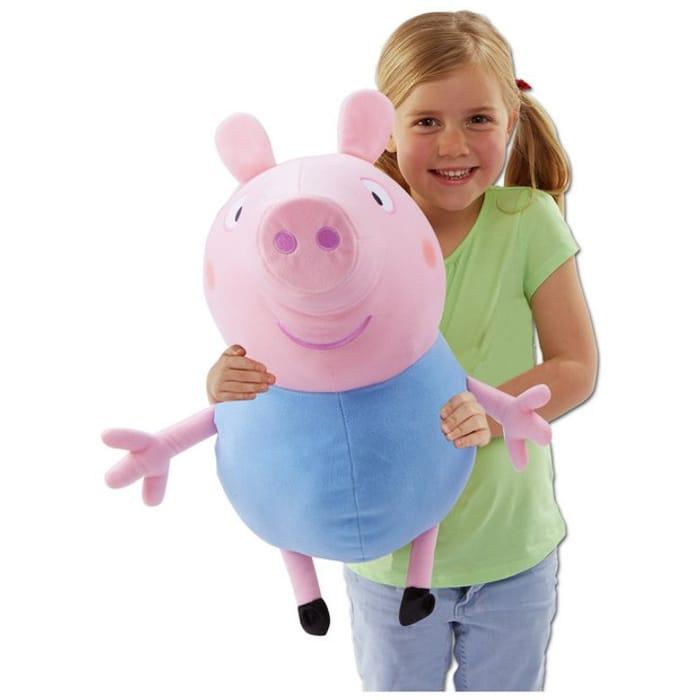 Peppa Pig Giant Talking George Soft Toy (46cm X 66cm)