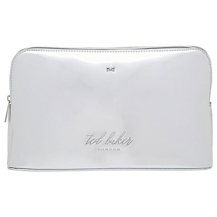 Ted Baker Lauran Mirrored Wash Bag, Silver *HALF PRICE*