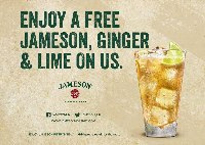 FREE Jameson, Ginger & Lime Drink