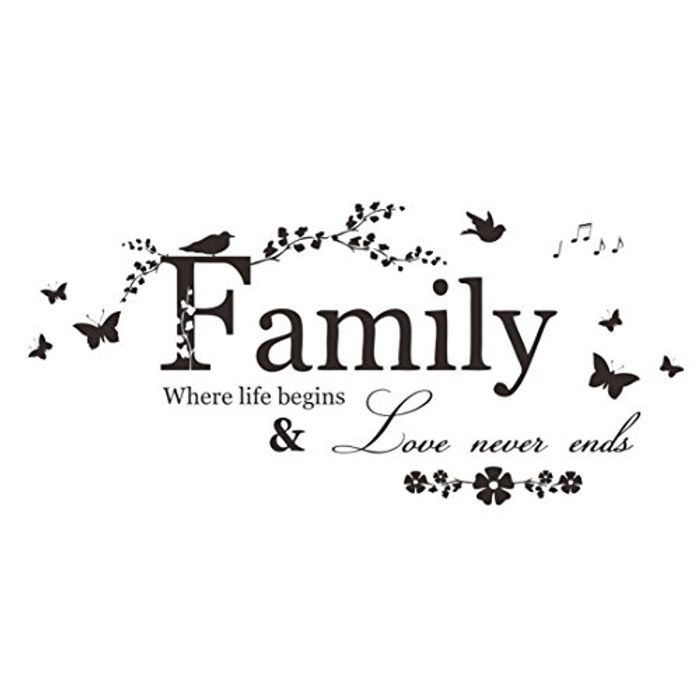 Family Wall Art Decal Free Del