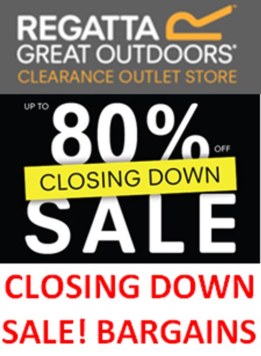 CLOSING down SALE at Regatta Outlet. BARGAINS!