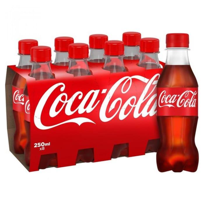 MEGA DEAL Coca Cola 8 X 250ml X 2