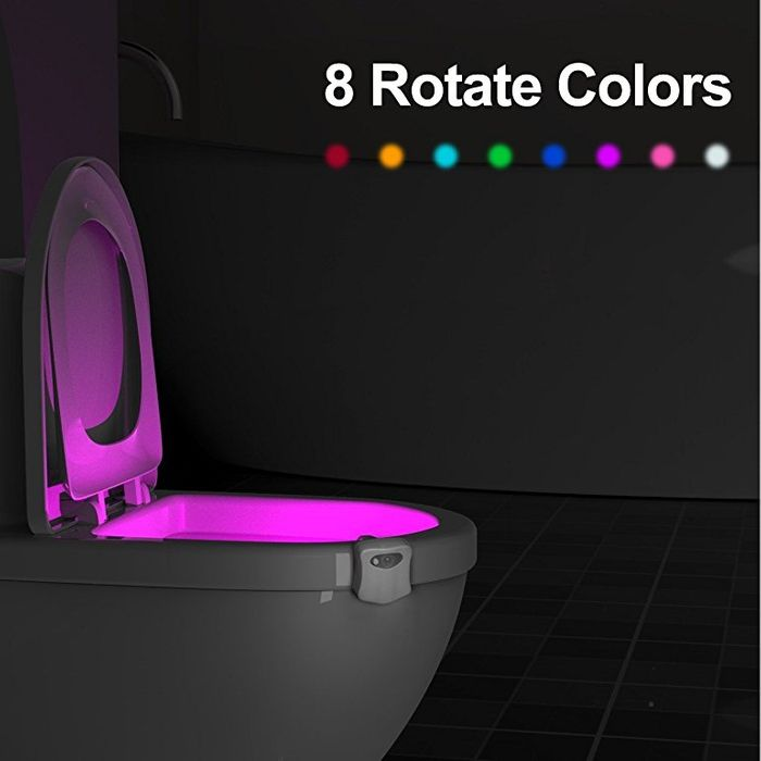 Automatic Toilet Bowl Night Light (Colour Changing)