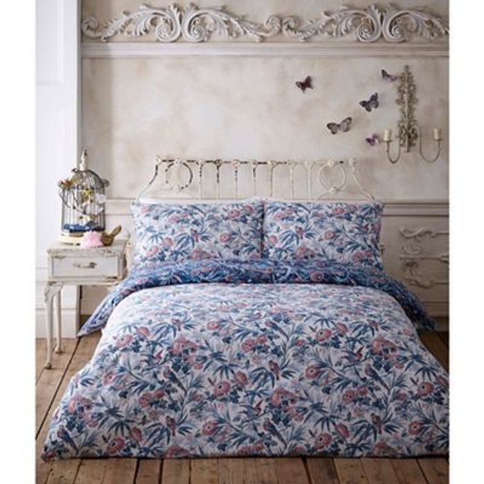 Butterfly Home by Matthew Williamson - Navy 'Bamboo' Bedding SINGLE DOUBLE KING