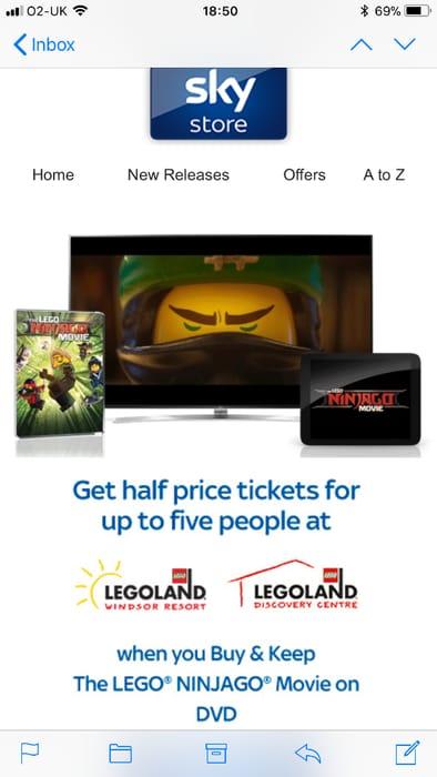 Half Price Lego Land Vouchers