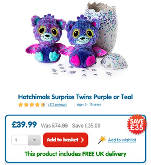 Hatchimals Surprise Twins NOW ALMOST HALF PRICE!