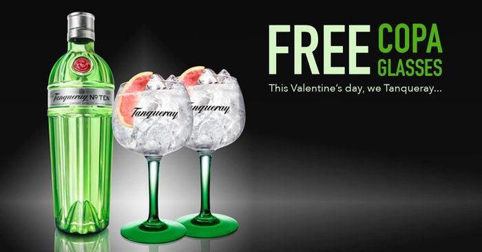 Buy a Bottle of Tanqueray and You'll Get Two #FREE Copa Glasses!
