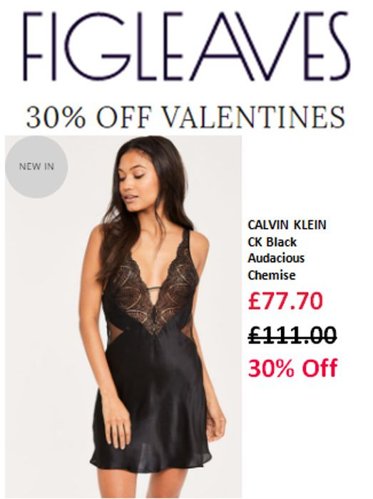 30% off Lovely Lingerie at Figleaves for Valentine's Day - Sale