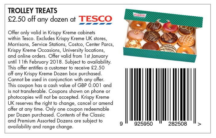 2 50 off Any Dozen at Tesco Voucher Must Be Printed