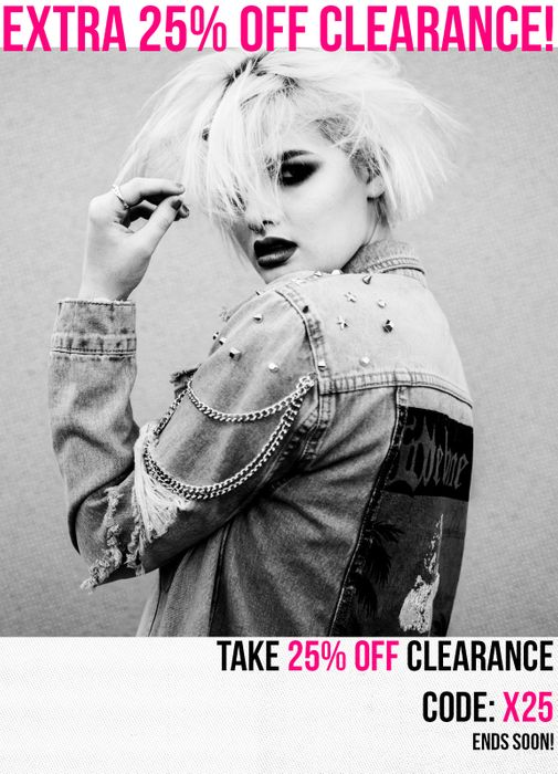 EXTRA 25% off Clearance!