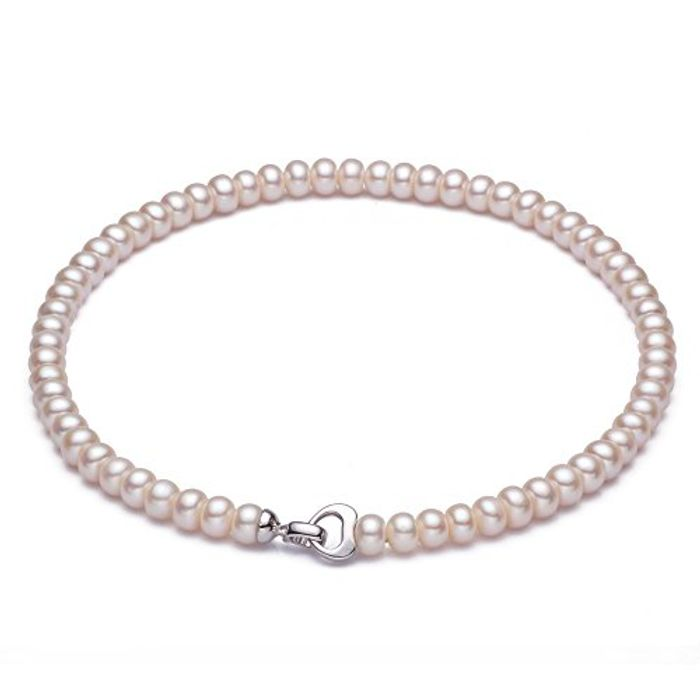 Genuine White Freshwater Cultured Pearl Necklace