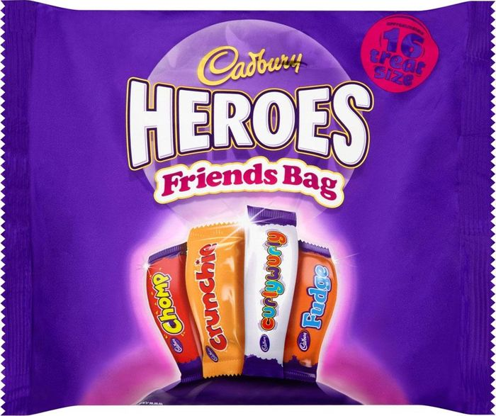 MEGA DEAL Cadbury Heroes Friends Bag 16 Treat Size 225g