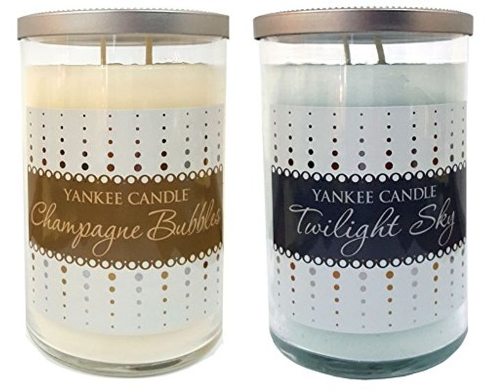 Limited Edition Yankee Candle Gift Set Large Jar Tumblers with Twin Wick