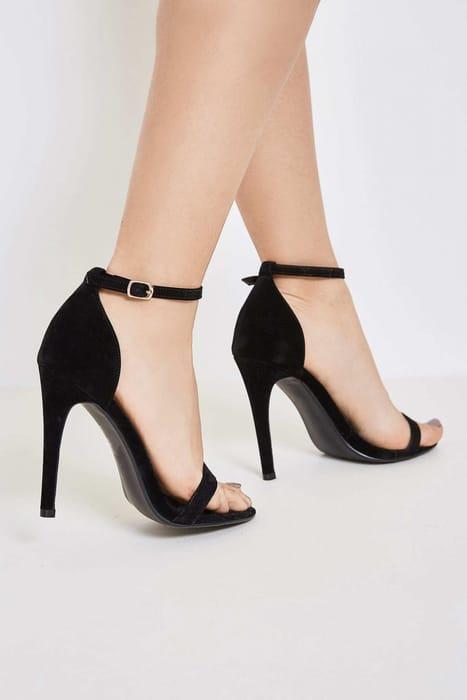 Brand Attic Classic Strappy Heels - Black